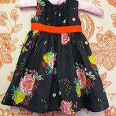 Красивое нарядное платье bows&arrows на 1-1,5 г.