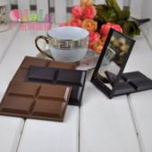 Зеркальце карманное Плитка шоколада.