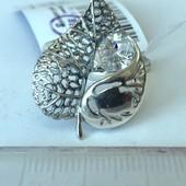 Новое красивое ажурное серебряное кольцо с куб.цирконием Серебро 925 пробы