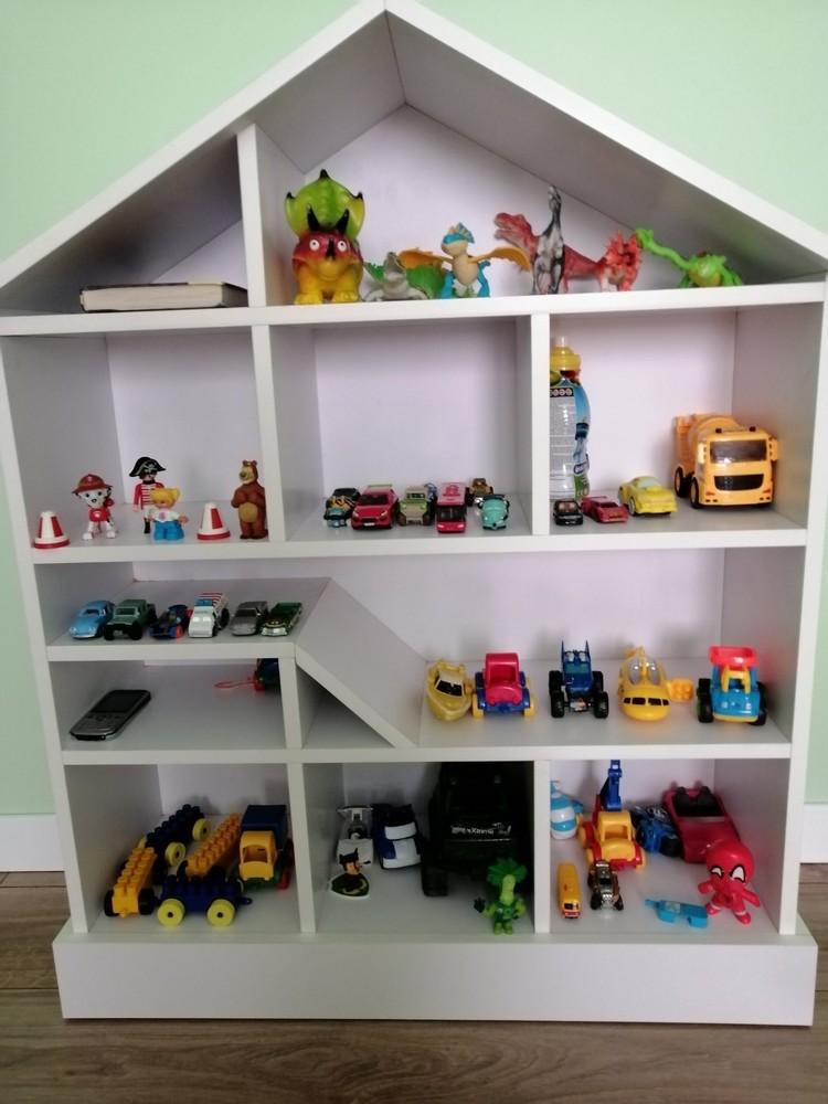 Домик стеллаж для игрушек парковка гараж для машинок кукольный дом фото №1