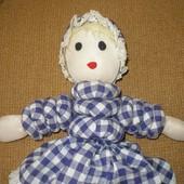 471. кукла самоделка 40см мягкая, потешная - ручная работа.