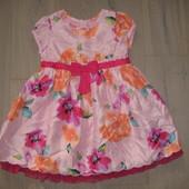 Нарядне платье плаття Marks&Spencer на 9 - 12 місяців . ріст 74 - 80 см. стан нового