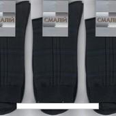 Носки мужские демисезонные х/б Смалий - клетка, 11В3-300, чёрные, 25, 27, 29 размер