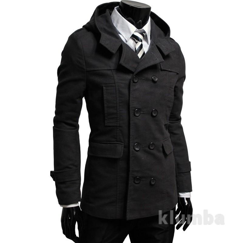Двубортное пальто с капюшоном фото №1