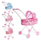 Розовая Коляска для кукол 882 для Baby born