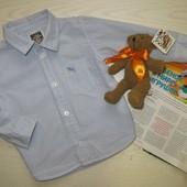 рубашечка в дрібну голубеньку кліточку H&M 86 см