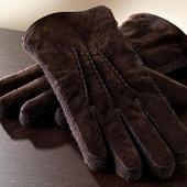 Кожаные мужские перчатки Tchibo размер 8,5