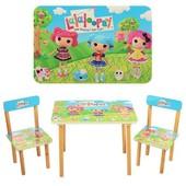 Столик детский с двумя стульчиками 501-3,девчонки Lalaloopsy,производство украина