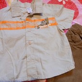 летняя рубашка Обезьянка на 1-2,5 года распродажа