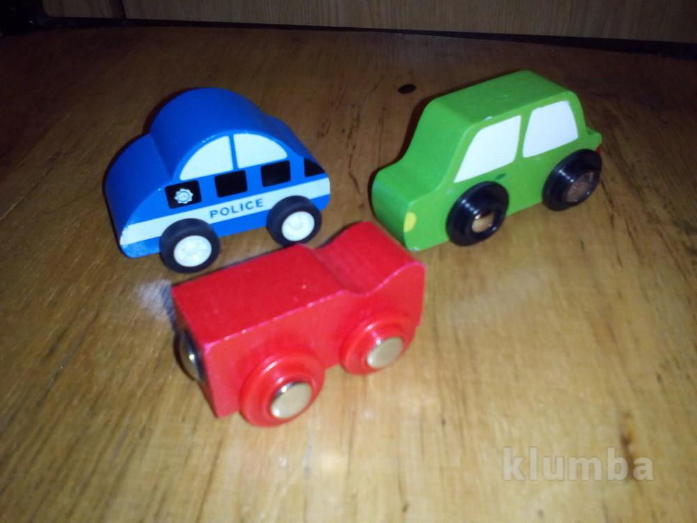 Деревянные машинки вагончик фото №1