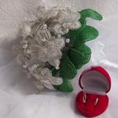 Свадебный букет невесты из бисера