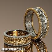 """""""Луара"""" - обручальные кольца с объёмным резным узором"""