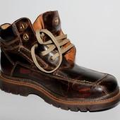 Ботинки Alpina, 44 р, оригинал, кожа, мех, прошитые