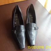 Чорні шкіряні туфлі. 36 р.Salamander
