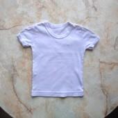 Простая белая футболка размер 92 (реально с годика до двух)