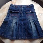 Юбка джинсовая фирмы Power Girls на возраст 11-12 лет размер 152