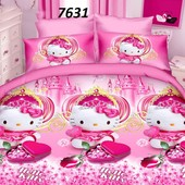 Детское полуторное постельное белье для девочек Китти, Барби, Феи, Фиксики