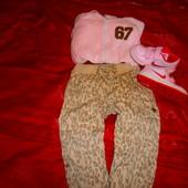 Моднявые  фирменные джинсики Palomino  с тигровым принтом .Р.92-98см.