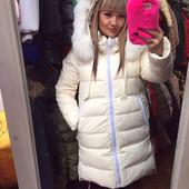Куртка зимняя в расцветках.Пух, мех натуральный.Размеры: (44-46),(46-48), (48-50)(3