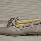 Хорошенькие замшевые туфельки в стиле мокасин. Paul Green . Германия.