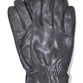 Мужские кожаные перчатки с махровой подкладкой.