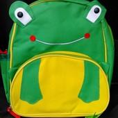 Весела сумка-рюкзачок для Вашої малечі - зелена жабка