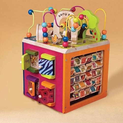 Battat развивающая деревянная игрушка зоо - куб размер 34 х 30 х 45 см баттат батат  фото №1