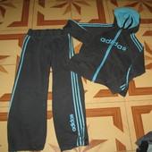 604. Спортивный Adidas (Адидас). р.12 (40),Х/Б,костюм.