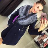 Пальто утепленное Лора,в расцветках. Мех в расцветках. Размеры: 42, 44, 46, 48 (7