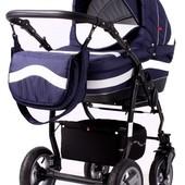 Универсальная коляска 2 в 1 Adbor Marsel фиолетово-серая