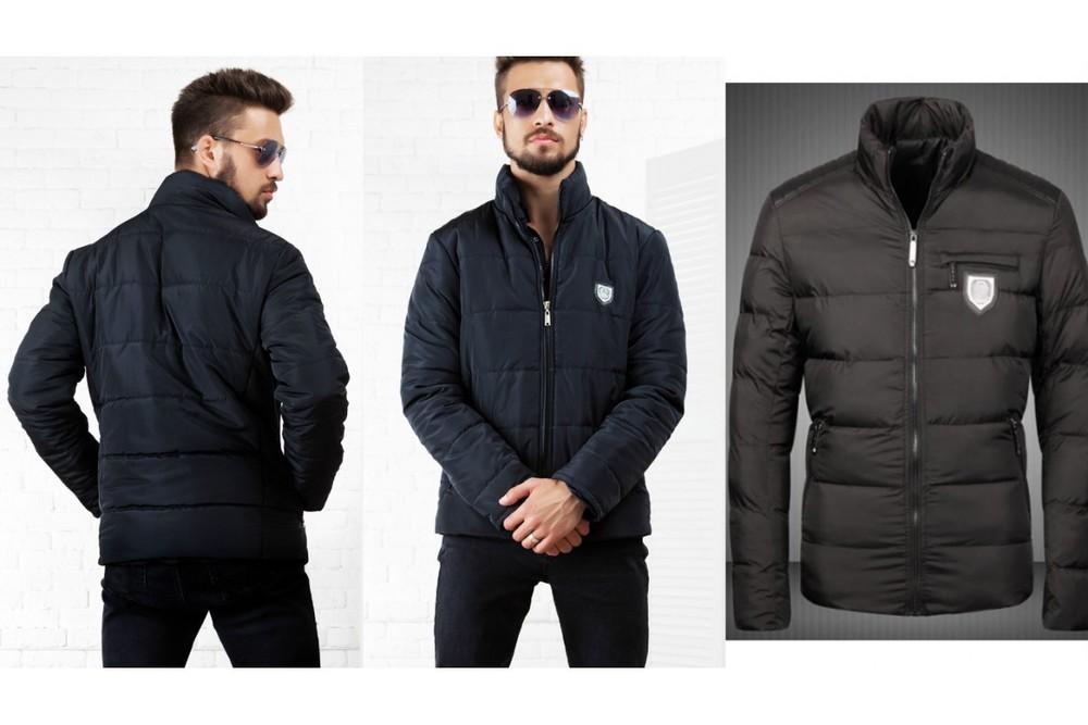 """Куртка """"Филипп """" дутая.Размеры:46,48,50,52.Цвета: черный и синий (2с фото №1"""