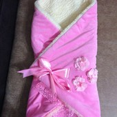 Конверт-одеяло трансформер для новорожденных, на овчинке
