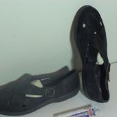 Мокасины-туфли кожаные 36-37р.ср3