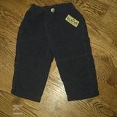 Вельветовые штанишки 6-9 мес