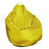 Желтое кресло-груша 100х75 см из ткани Оксфорд