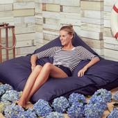Синие кресло-подушка, мат 140х180 см из ткани Оксфорд