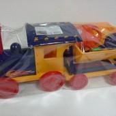 Поезд-конструктор с песочным набором №1 красный, арт 013222