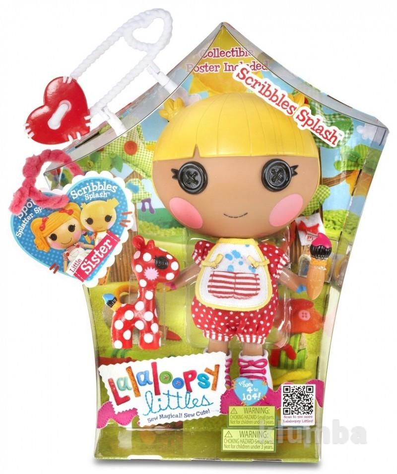 Lalaloopsy littles doll - scribbles squiggle splash лалалупси маленькая художница фото №1