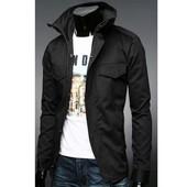 Приталенная куртка с карманами на кнопках с.м.л.хл (2з