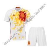 Футбольная форма сборной Испании на Евро-2016 Adidas выездная (1833)
