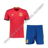 Футбольная форма Испании на Евро-2016 Adidas домашняя (1834)