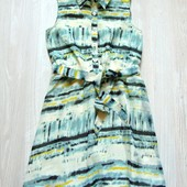 Шикарное платье с пояском для изысканной леди. Nutmeg. Размер 8-9 лет.