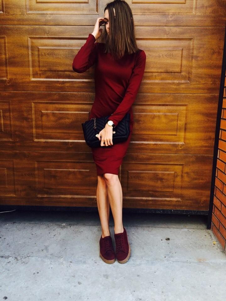 Хит! классическое платье-миди 13 цветов (48-52 размеры 340 грн) фото №14