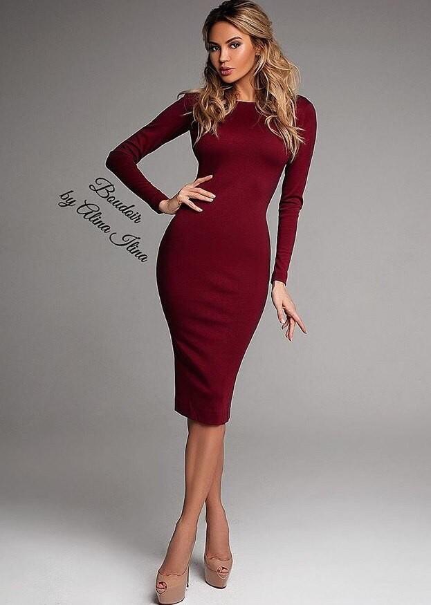 Хит! классическое платье-миди 13 цветов (48-52 размеры 340 грн) фото №12