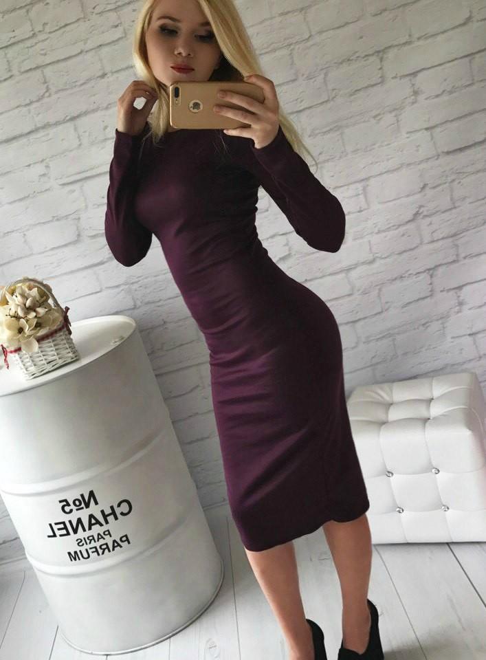 Хит! классическое платье-миди 13 цветов (48-52 размеры 340 грн) фото №3