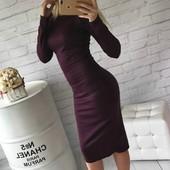 ХИТ! Классическое платье-миди 10 цветов (48-52 размеры 320 грн)