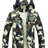Куртка ветровка комуфляж унисекс
