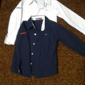 Рубашки  нарядные Tommy Hilfiger р.L можно для двойни или близнецов