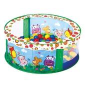 Игровой басейн Bino, с шариками, 80шт Код: 88308
