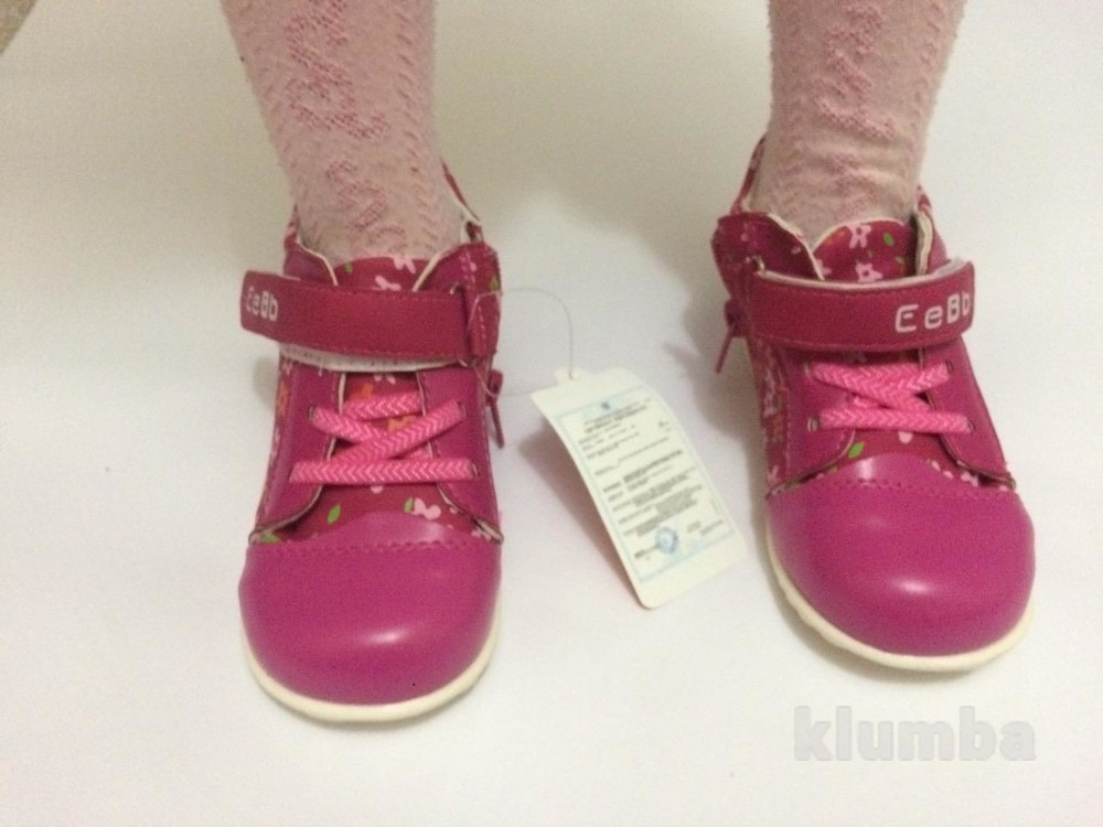 Детские ботинки деми осень весна для девочки розовые фото №4